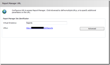 SSRS Report Manager URL