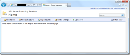 SSRS Report Manager IE