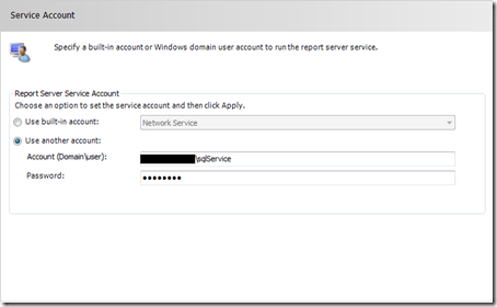 SSRS Service Account
