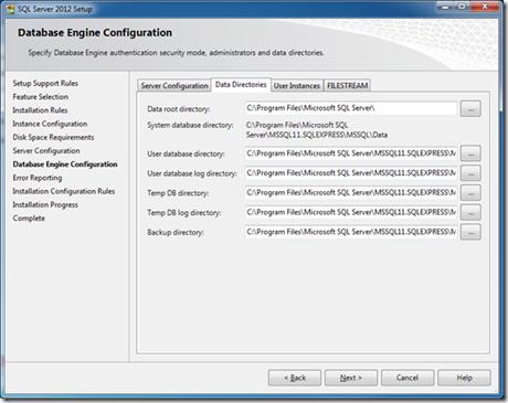 Installing SQL2012 Express