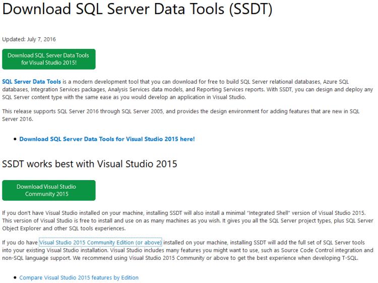 Instalación de SSDT