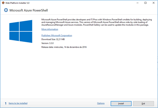 WPI 5 - Azure PowerShell en Windows